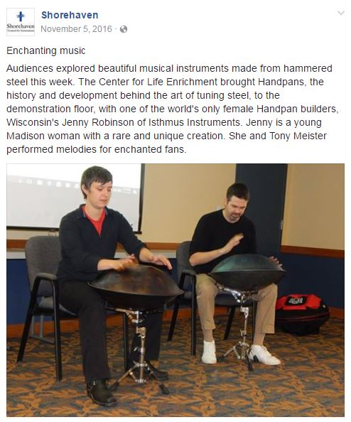 Shorehaven Handpan Article