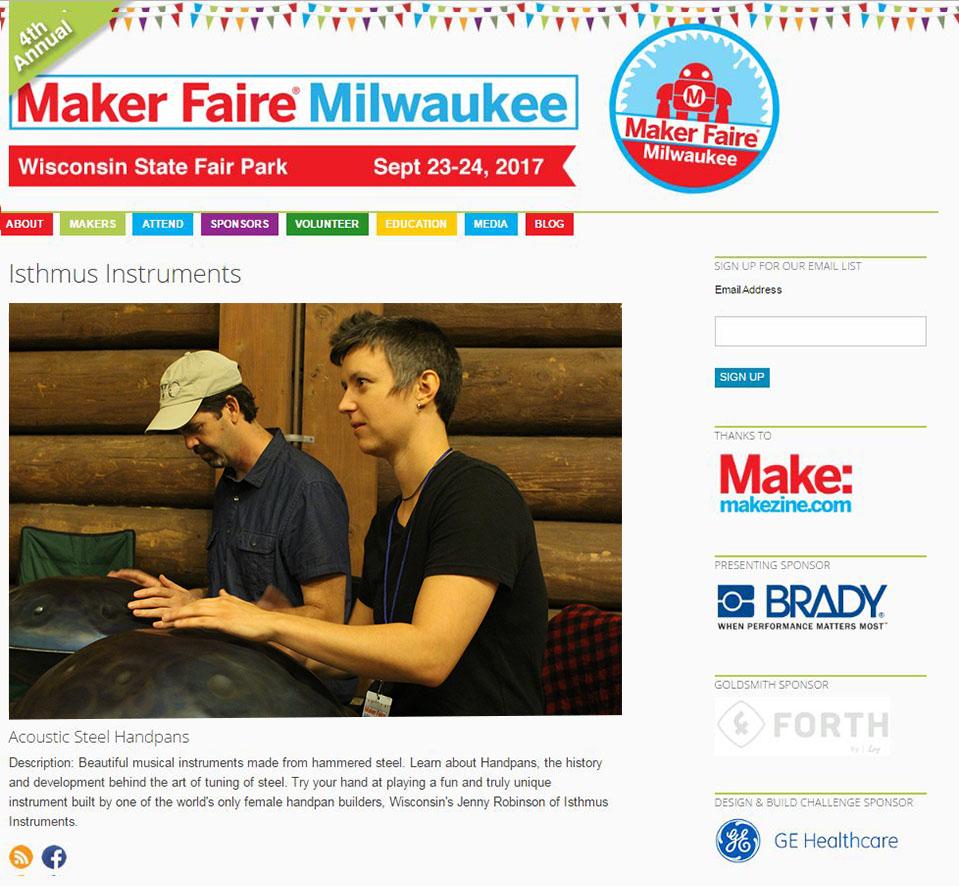 Maker Faire Handpan Demo